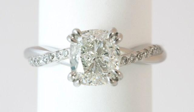 Classic Cushion Cut Diamond Engagement Ring