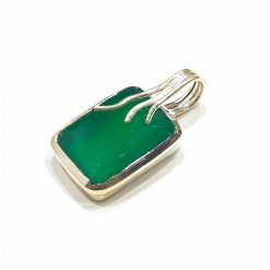 Sterling Silver Green Onyx Overflow Pendant Everyday Silver Pendants Pendants Necklace for Girls Gemstone Pendants Pack Of 1 Pendant Ideal for Women