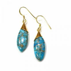 Sterling Silver Turquoise Turquoise Classic Tie Earrings Everyday Earrings Silver Jewellery Gift Silver Earrings Silver Gifts Pack Of 1 Pair Earring Ideal for Women