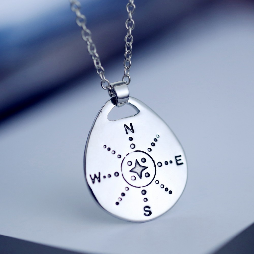 Compass pendant necklace for women or men personalised jewellery compass necklace aloadofball Gallery