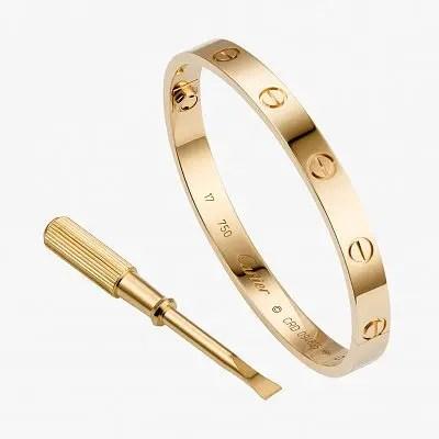 Браслет из розового золота с бриллиантами из коллекции LOVE от Cartier