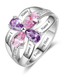 birthstone Rings for Mom and Girls