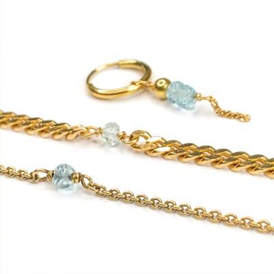 Mange smykker med lykke sten for Marts akvamarin