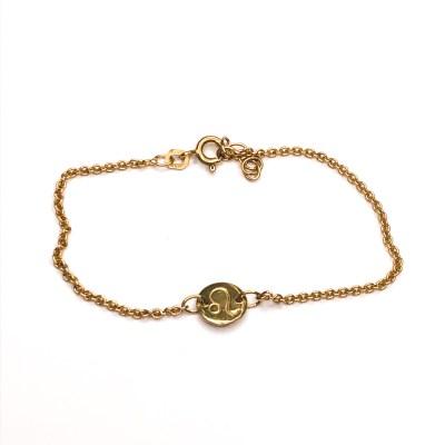Simple stjernetegns armbånd i guld med løvens stjernetegn