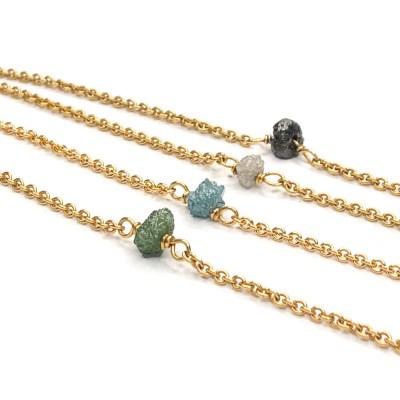Guld armbånd med rå diamanter