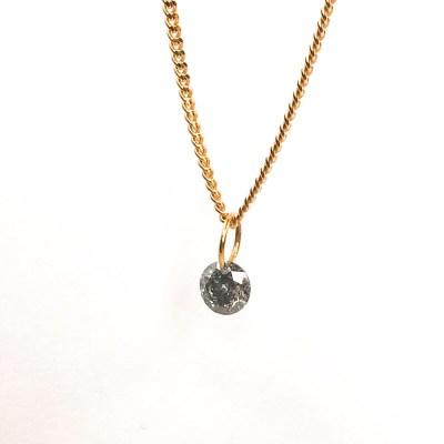salt and pepper diamant med 18 k guld øsken 4,6 mm