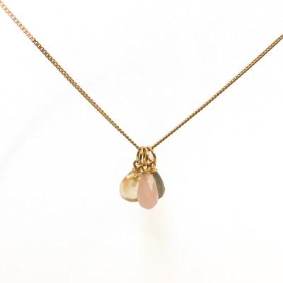 Love,peace,harmoni halskæde med 2 andre vedhæng