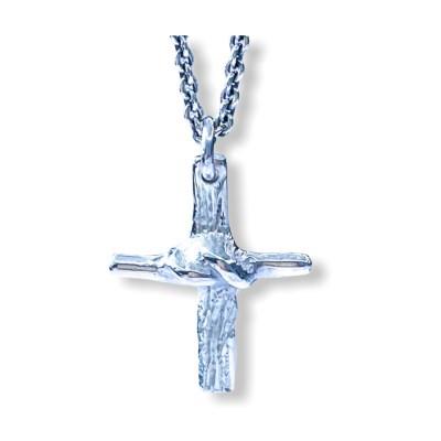 knude kors med sølvkæde
