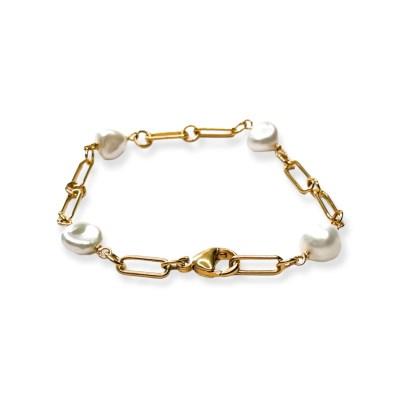 Glimt armbånd med barokke perler fg