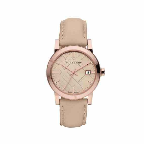 BU9109 Burberry Women's Beige Leather Strap Watch