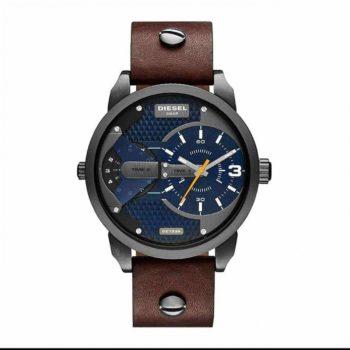 Diesel Mini Daddy Blue Textured Dial Quartz Men's Watch – DZ7339