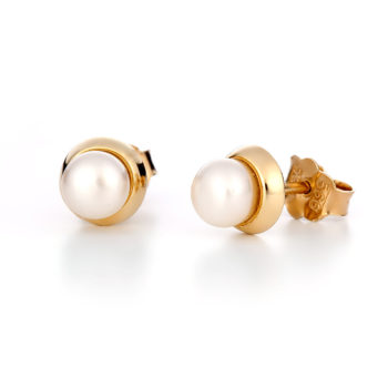 Σκουλαρίκια Χρυσά Με Μαργαριτάρι 14K