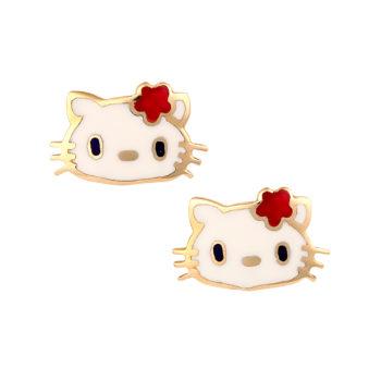 Σκουλαρίκι Hello Kitty Παιδικό Χρυσό Για Κορίτσι