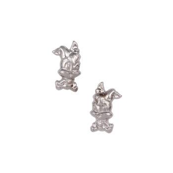 Σκουλαρίκι Lola Bunny Παιδικό Λευκόχρυσο Για Κορίτσι