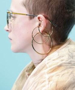 Runway Jewelry Trends, Gucci Fall 2018, Hoop Earrings