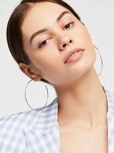 runway jewelry trends 2019, hoop earrings - Gold Fill Lala Hoop Earrings, Free People