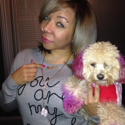 "Tameka ""Tiny"" Harris wearing her custom MELANIE MARiE chain"