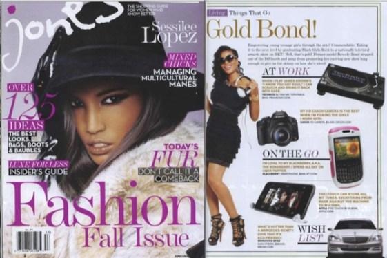 Jones Magazine Featured DJ Beverly Bond wearing MELANIE MARiE