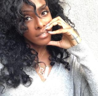 Singer Dawn Richard with her MM dog tags & Rep Your State Necklace