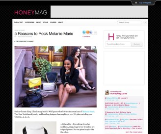 Honeymag.com featured MM Accessories January 2011