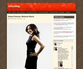 Sistazmag.com featured MM August 2011