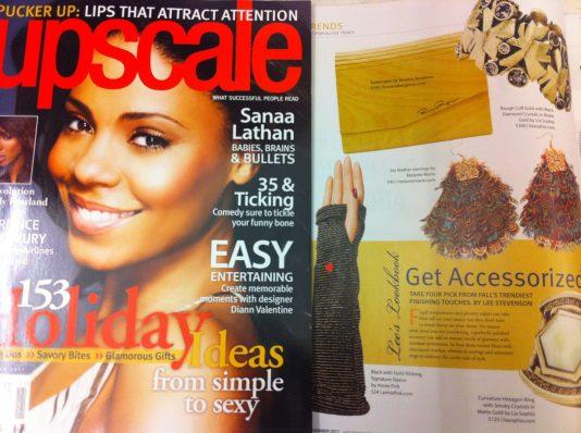 Upscale Magazine featured MM Joy Earrings