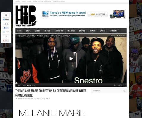 HipHopSince1987.com featured MM in May 2012
