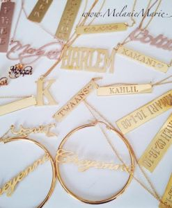 Personalized Gold Plated, Rose Gold Plated & Sterling Silver Jewelry