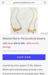Good Morning America Featured Melanie Marie July 2020