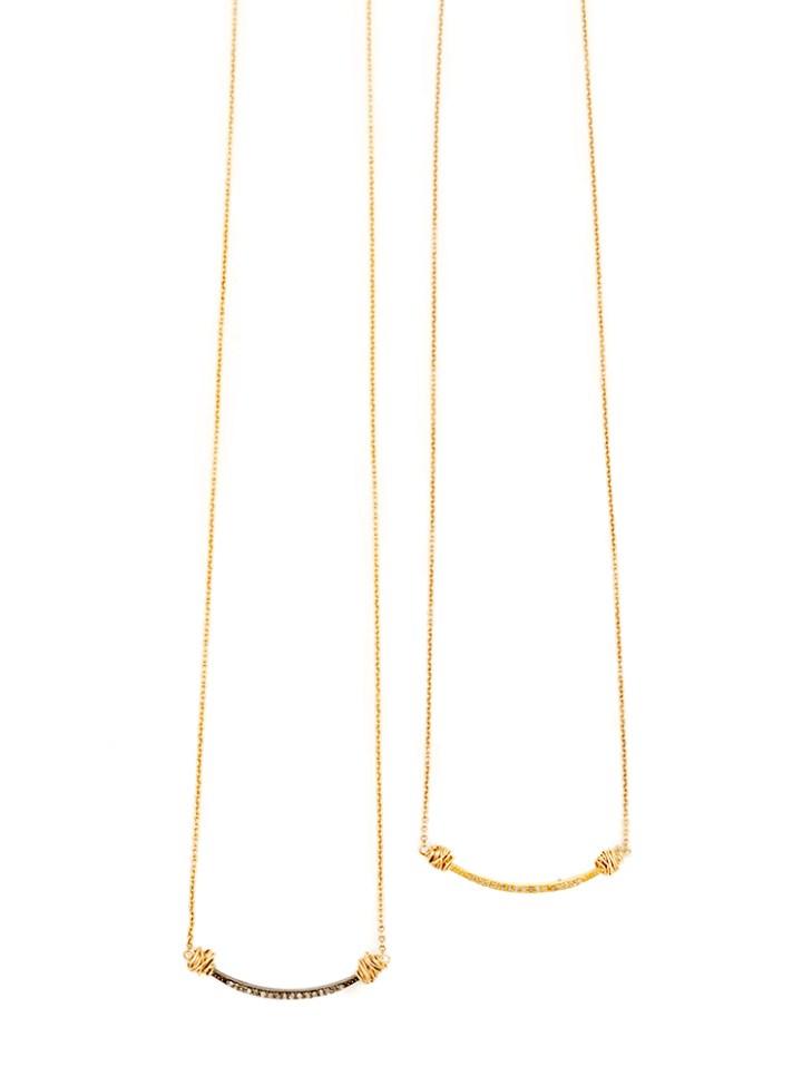 small pave diamond u deli necklace