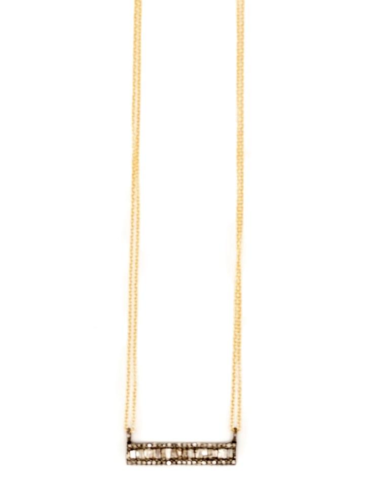 baguette straight bar deli necklace