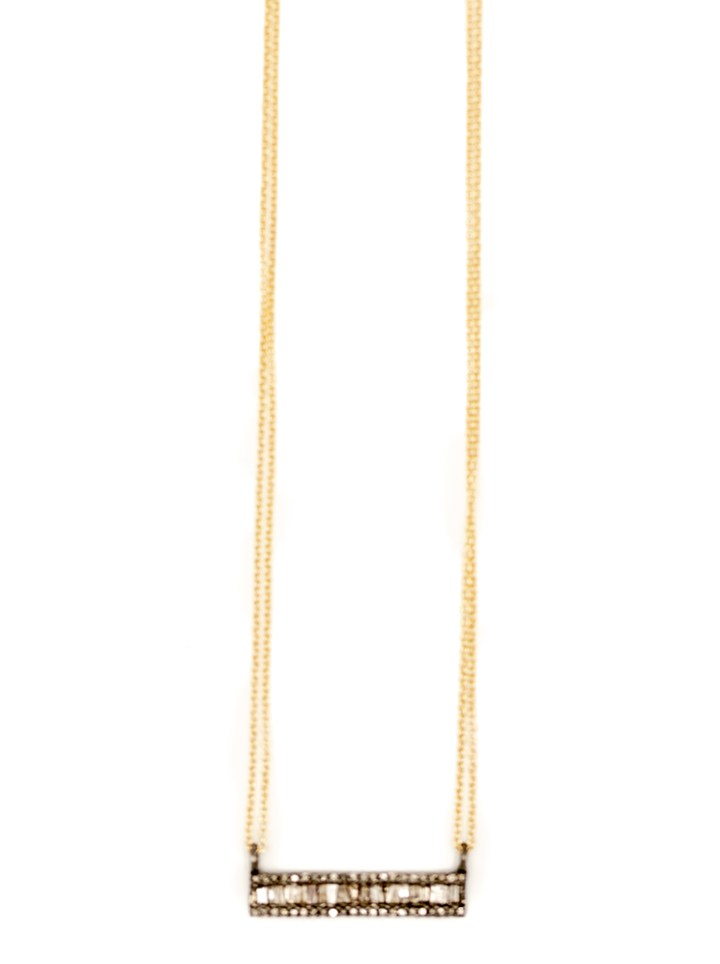baguette straight bar deli necklace