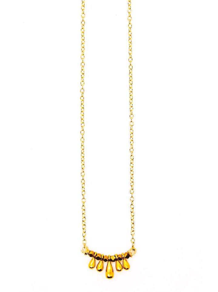 signature teardrop u necklace