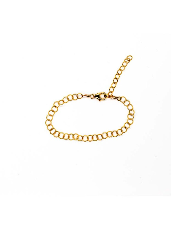 gold filigree round chain bracelet