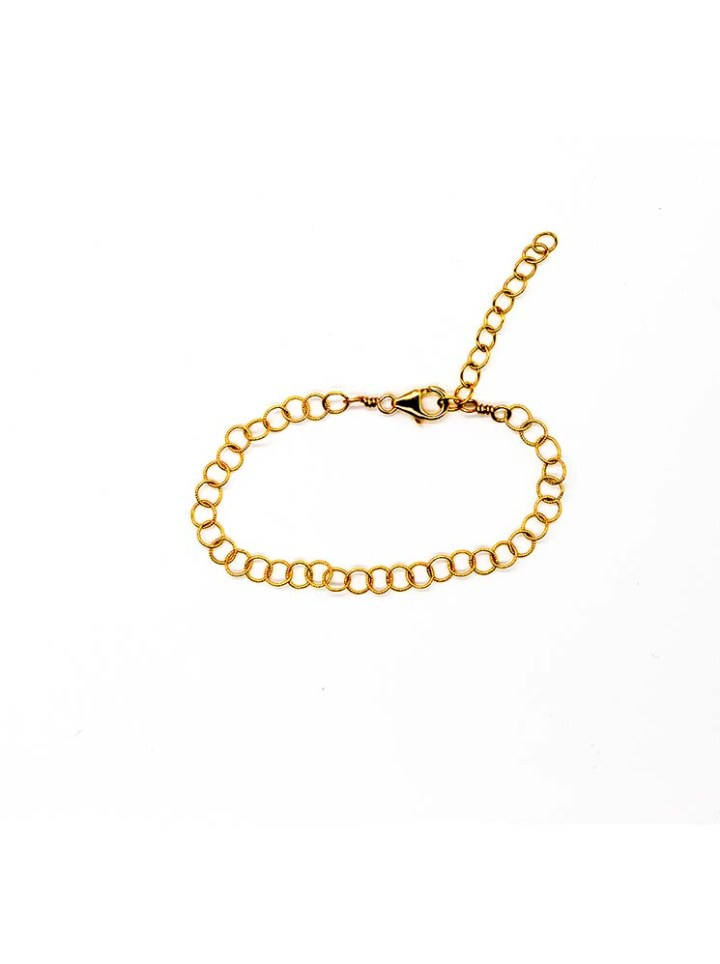 gold filigree round chain bracelet