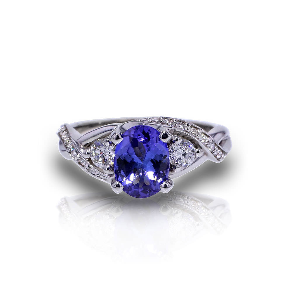 Tanzanite Crossover Ring Jewelry Designs