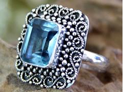 December birthstone, blue topaz