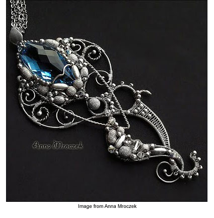Anna Mroczek's wire wrapped jewelry piece titled Octopus