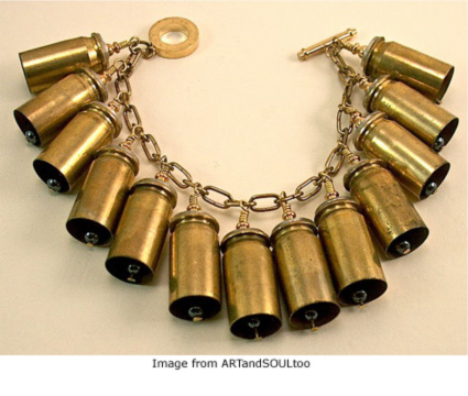 upcycled brass casings bracelet from ARTandSOULtoo