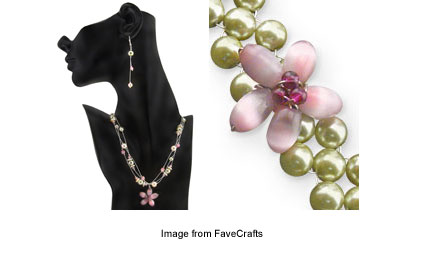 FaveCrafts Springtime garden jewelry set