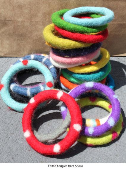 felted bangles