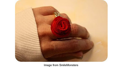 Rosey ring from SmileMonsters