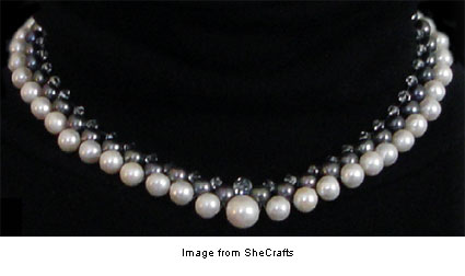 beaded necklace from SheCrafts