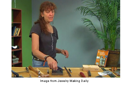 Helen Driggs teaching metalsmithing