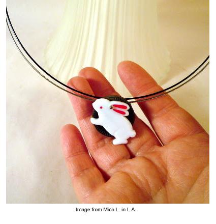 Bunny pendant from Mich L. in L.A.