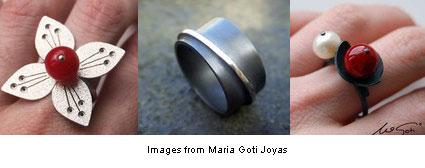 3 rings from María Goti Joyas