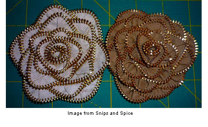 roses made from zippers