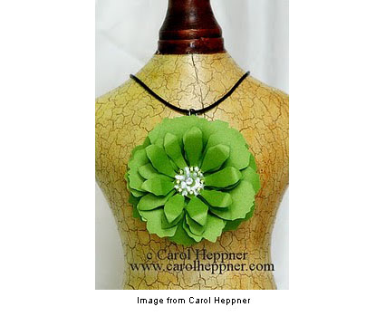 paper necklace from Carol Heppner