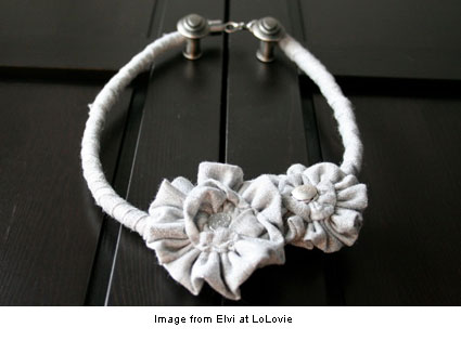 fabric necklace from Elvi at LoLovie