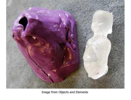 object cast in resin